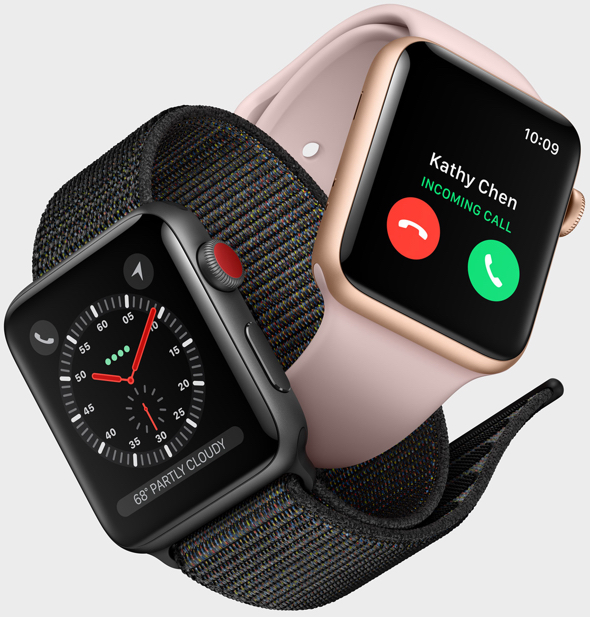 Apple Watch Series 3 (GPS + Cellular). The freedom to go with just your Apple Watch.