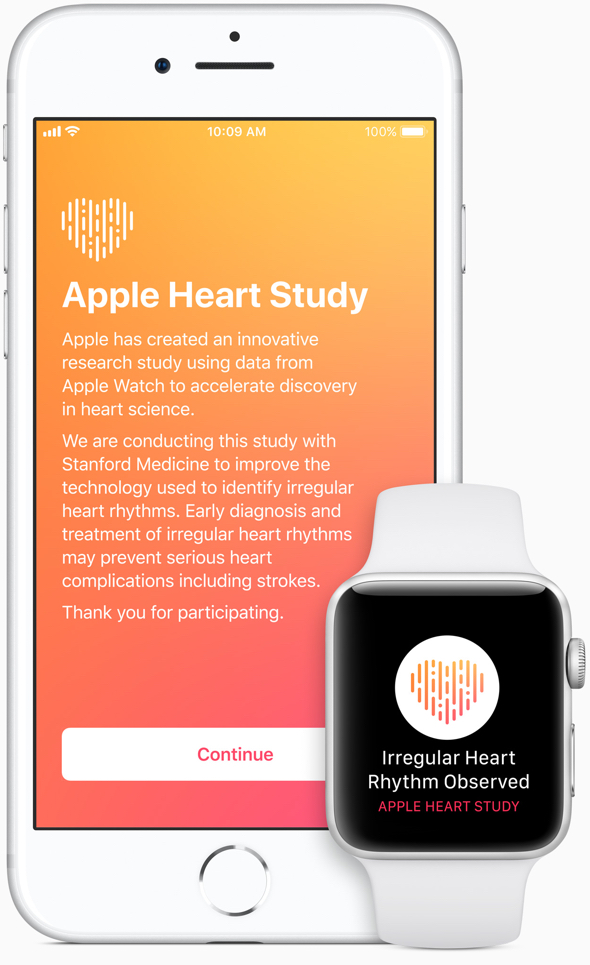 The app uses Apple Watch's heart sensor to collect data and will notify users who may be experiencing atrial fibrillation.