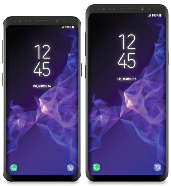 Samsung Galaxy S9 (left) and Galaxy S9+.