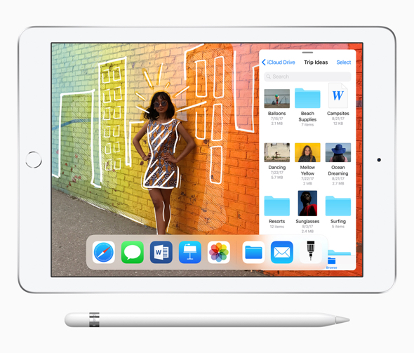 The new iPad supports Apple Pencil and features even greater performance
