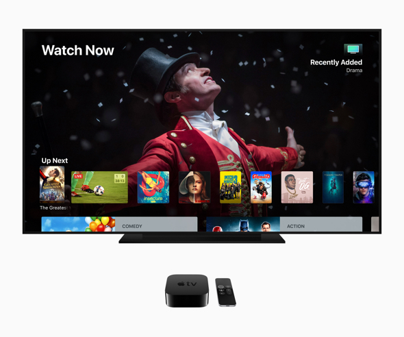 Apple's tvOS 12 takes the cinematic experience of Apple TV 4K to the next level — making it the only streaming player both Dolby Vision and Dolby Atmos certified.