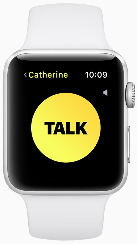 New walkie-talkie feature offers quick voice communication with any Apple Watch user around the world.