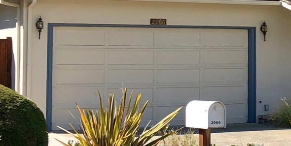 The garage where Steve Jobs and Steve Wozniak started Apple in Silicon Valley at 2066 Crist Dr. in Los Altos, California