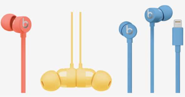 The UrBeats3 with Lightning Connector gets three new colors: coral, yellow and blue