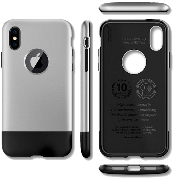 Spigen Classic One [10th Anniversary Limited Edition] iPhone X Case with Air Cushion Technology