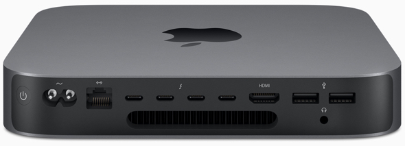 Mac mini now offers faster and expanded I/O to allow it to connect to almost anything, including four Thunderbolt 3 ports, an HMDI 2.0, two USB-A ports, an audio jack and Gigabit Ethernet, as well as a 10Gb Ethernet option.