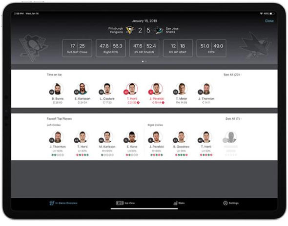 NHL/SAP app for Apple iPad Pro to debut League-wide after All-Star break