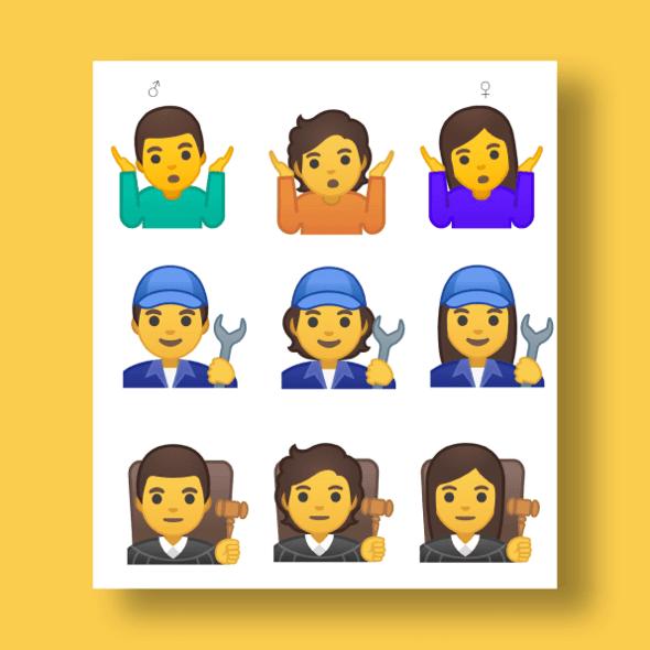 Google gender neutral emoji