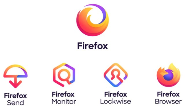 A master Firefox brand, at top, spawns variations for different Mozilla apps and tools. (Source: Mozilla)