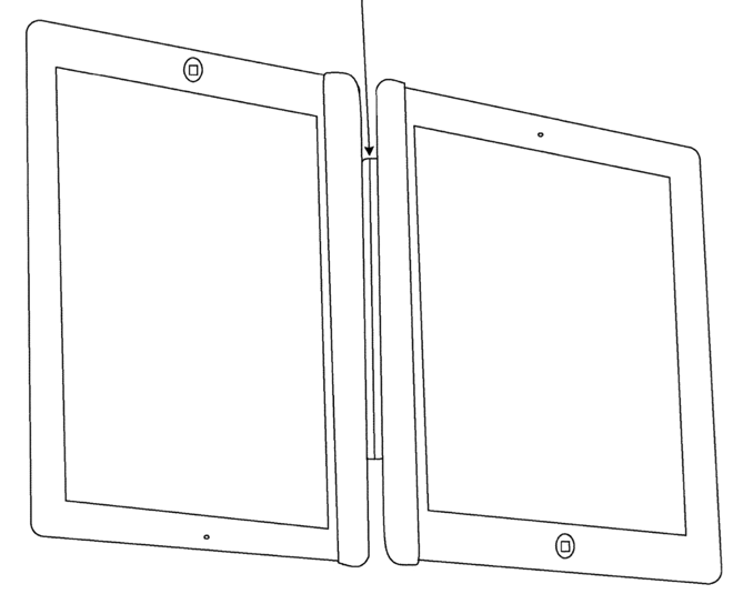 Apple patent application describes linking two iPads together, binding them like a book