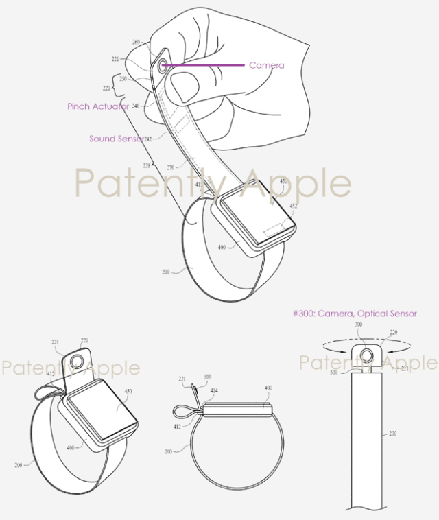 Apple patent reveals an Apple Watch Band with a built-in rotatable camera