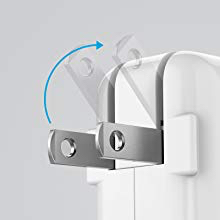 Foldable Plug: Simply slide down to charge, then fold back into place for transport