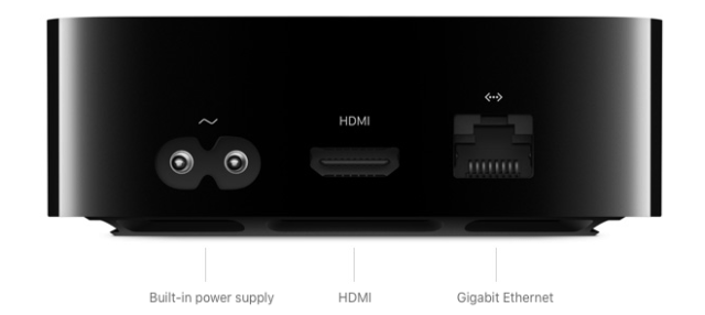 Apple TV 4K offers Gigabit Ethernet