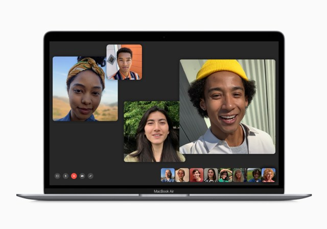 Marriage via FaceTime. Image: Apple's Group FaceTime