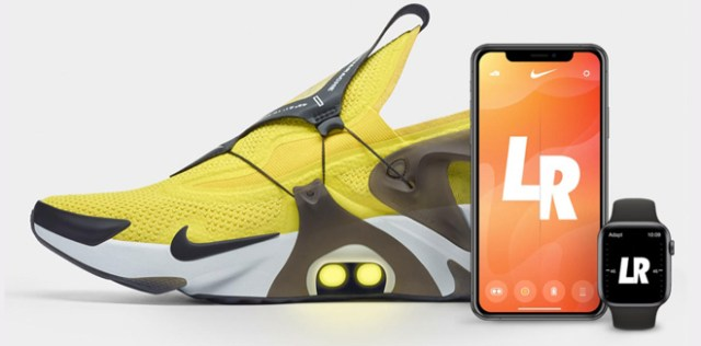 Nike Adapt Huarache offers preset modes, and iPhone and Apple Watch app and support Siri Shortcuts.