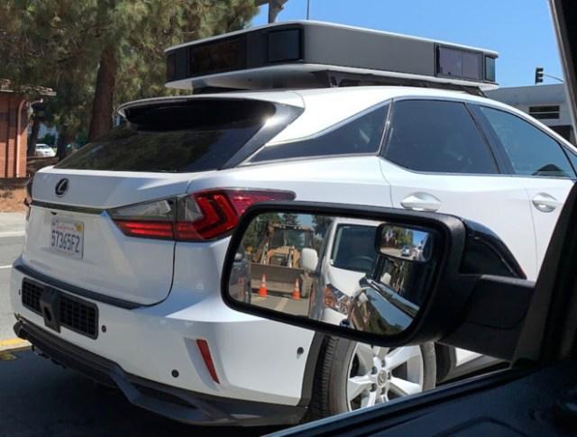 Photo of Apple's autonomous test vehicle (via The Last Driver License Holder)