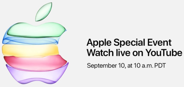 Apple to stream September 10th special event via YouTube for the first time