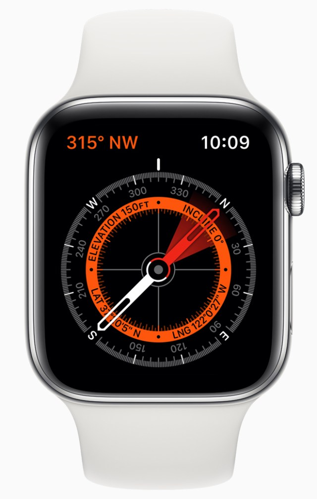 Apple Watch Series 5 features a new Compass app.