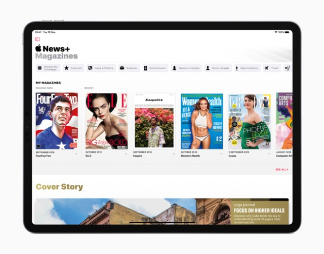 Apple News+ subscribers gain access to over 150 publications that meet any interest.