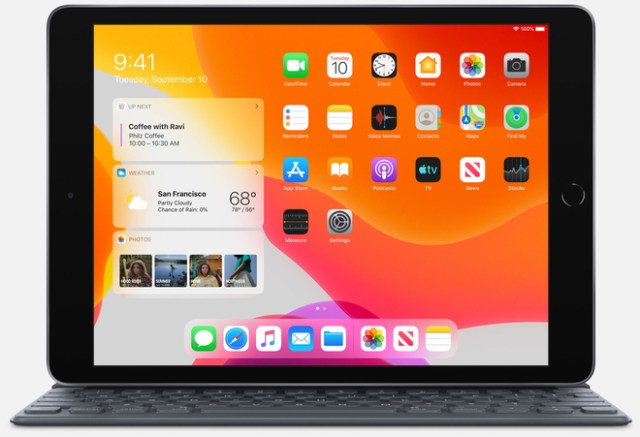 Apple's 10.2‑inch iPad with full-size Smart Keyboard