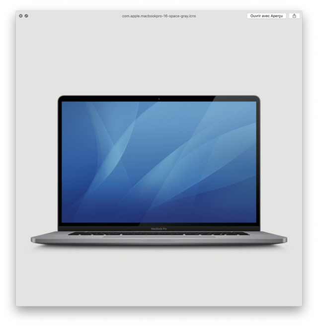 Apple's widely-expected 16-inch MacBook Pro is depicted in macOS Catalina 10.15.1 betas (image: MacGeneration)