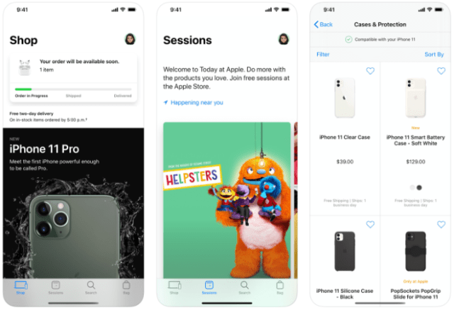 Apple's newly-redesigned Apple Store app