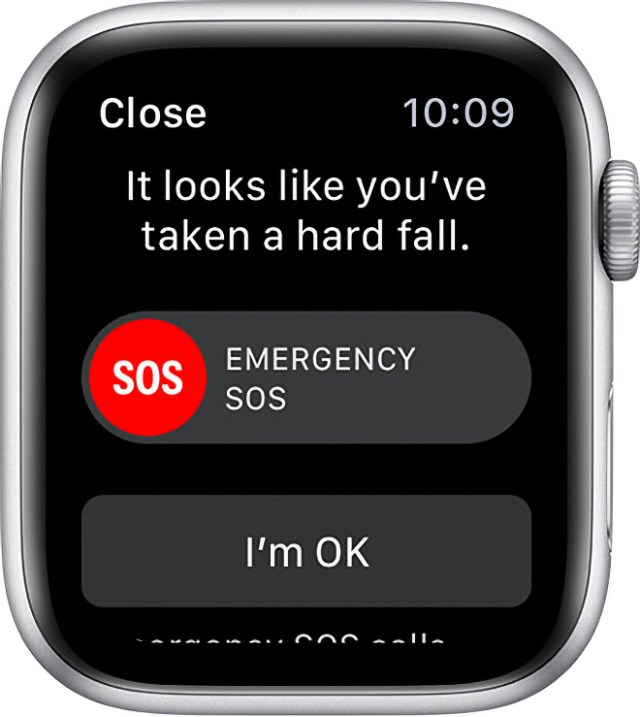 Apple Watch's fall detection feature