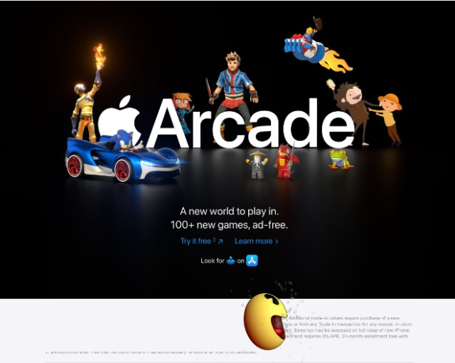 Whimsical Apple Arcade promo takes over Apple.com
