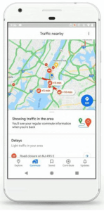 Google Maps on iPhone and Android. The new Google Maps home screen