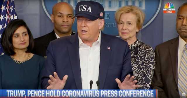 Federal Reserve slashes rates to zero. Image: President Trump holds coronavirus press conference
