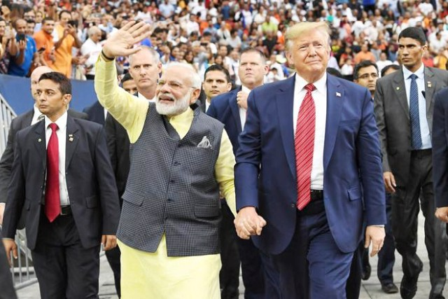"iPhone assembly stops in India. Image: Indian Prime Minister Narendra Modi and US President Donald Trump at the ""Howdy, Modi!"" event at NRG Stadium in Houston on Sunday, September 22, 2019. (Photo: Narendra Modi-Twitter)"