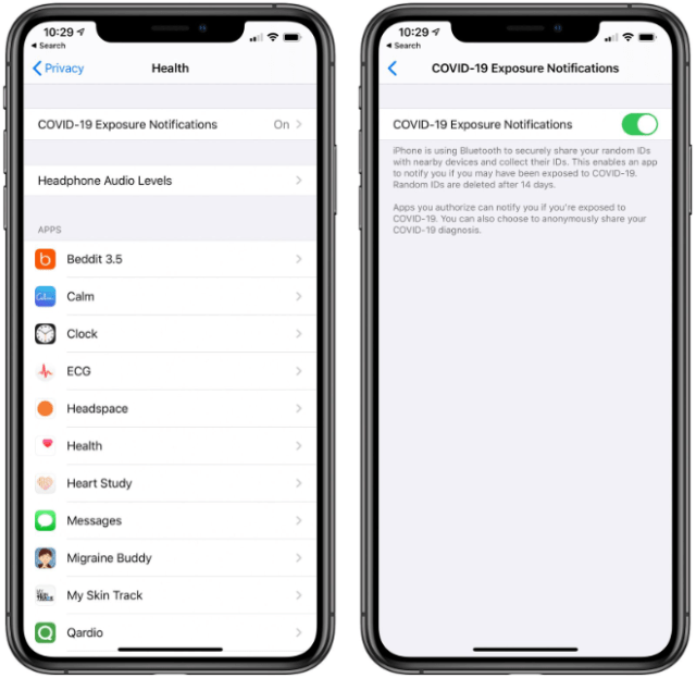 contact tracing opt out: Apple's iOS 13.5 COVID-19 Exposure Notifications can be turned off