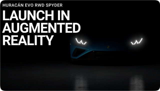 Lamborghini will unveil the Huracán EVO RWD Spyder using Apple's AR Quick Look for iPhone and iPad