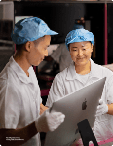 Quality assurance, iMac production, China (Image via Apple's Supplier Responsibility 2020 Progress Report)