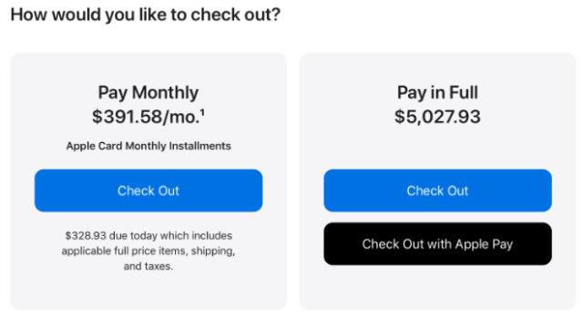 Apple Card monthly payments with 0% financing now available for Mac, iPad, and more