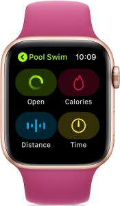 Apple Watch Series 2 or later is always ready for a swim.