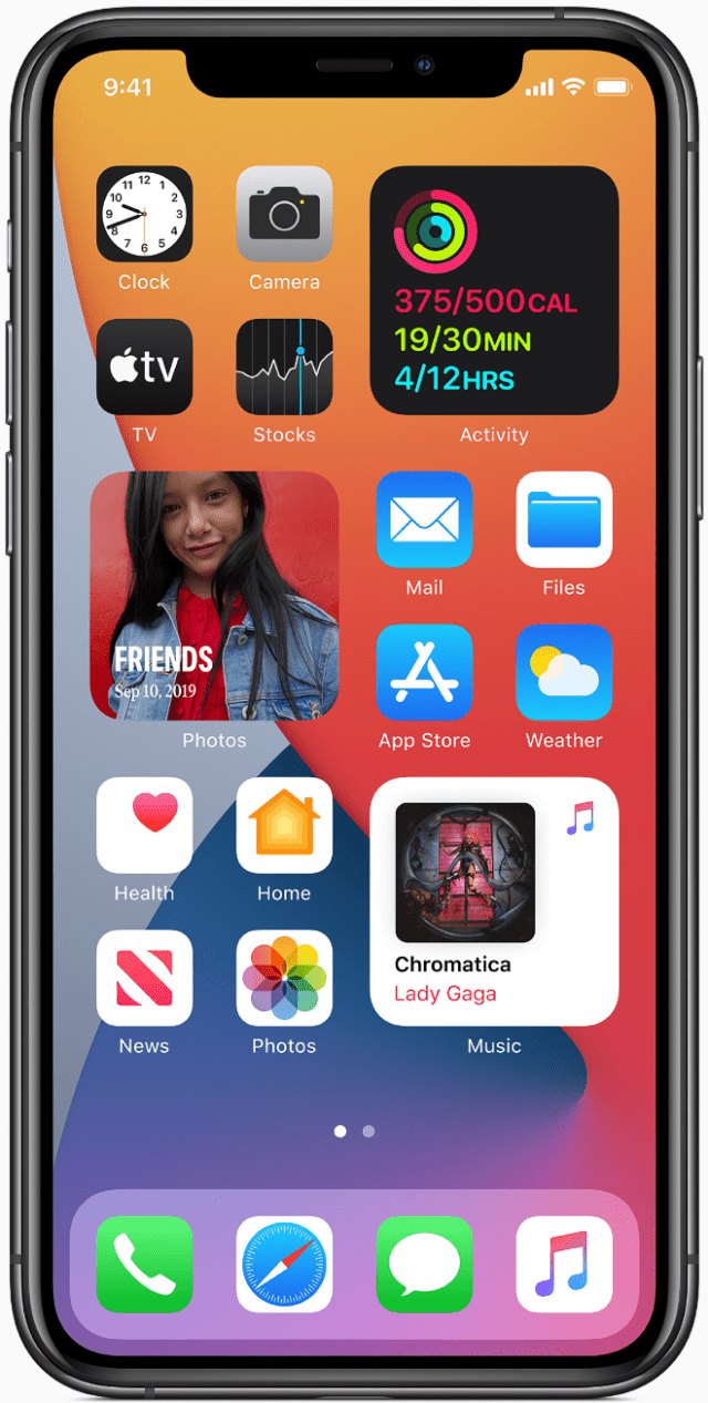 Widgets are beautifully redesigned in iOS 14, giving users timely information at a glance, and are more helpful than ever right on the Home Screen pages.