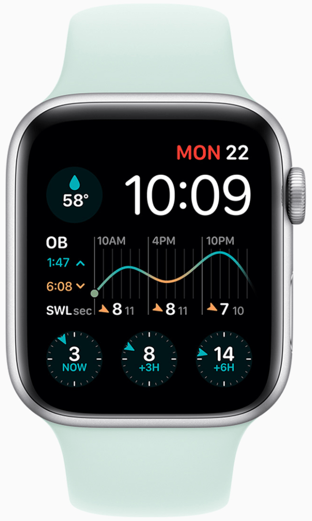Surfers can create a surf watch with Dawn Patrol to track water temperature, swell, and wind speed at their favorite beach.
