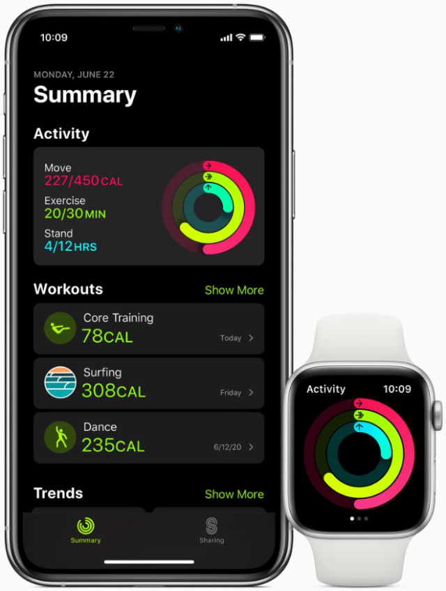 The Fitness app on iPhone has been completely redesigned to provide a more streamlined view of Activity data.