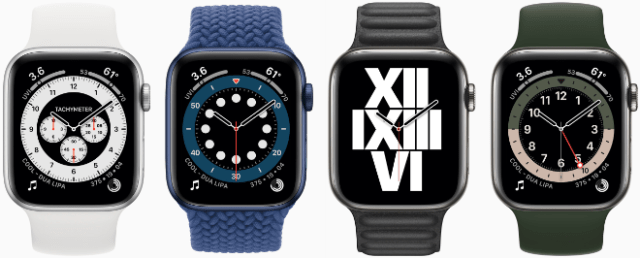 watchOS 7 features seven new watch face options — including Chronograph Pro and GMT — plus new watch face configurations users can curate, discover, and share with others.