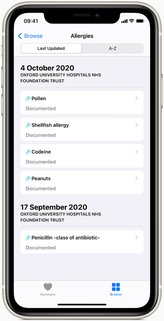 Health Records utilizes a direct, encrypted connection between a user's iPhone and the healthcare organization.