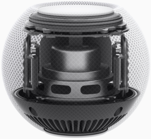 HomePod mini has custom hardware, including the Apple S5 chip, and advanced software to deliver groundbreaking sound using computing sound.