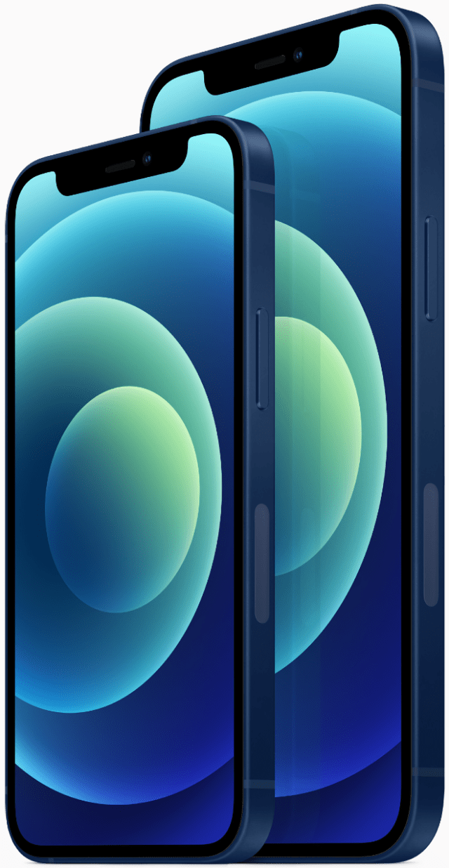 The elevated new design of the 6.1-inch iPhone 12 and 5.4-inch iPhone 12 mini feature edge-to-edge Super Retina XDR displays for an immersive viewing experience.