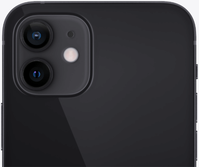 The new dual-camera system on iPhone 12 and iPhone 12 mini features the Ultra Wide camera, a new Wide camera, and introduces Night mode to all cameras.