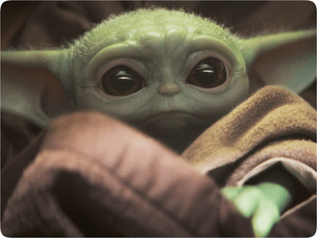 """Baby Yoda"" (Grogu) from Disney+ ""The Mandalorian"""