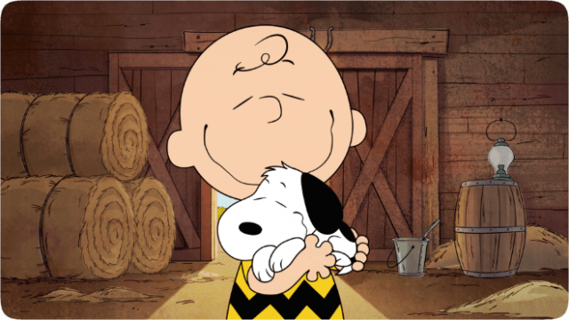 """Snoopy and Charlie Brown in """"The Snoopy Show,"""" premiering February 5th on Apple TV+."""