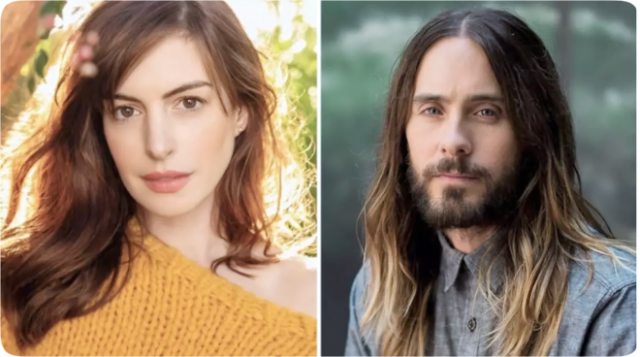 Anne Hathaway (left) and Jared Leto