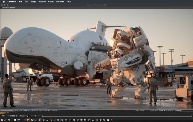 Octane X GPU renderer launches on the Mac App Store. Source: OTOY Inc.