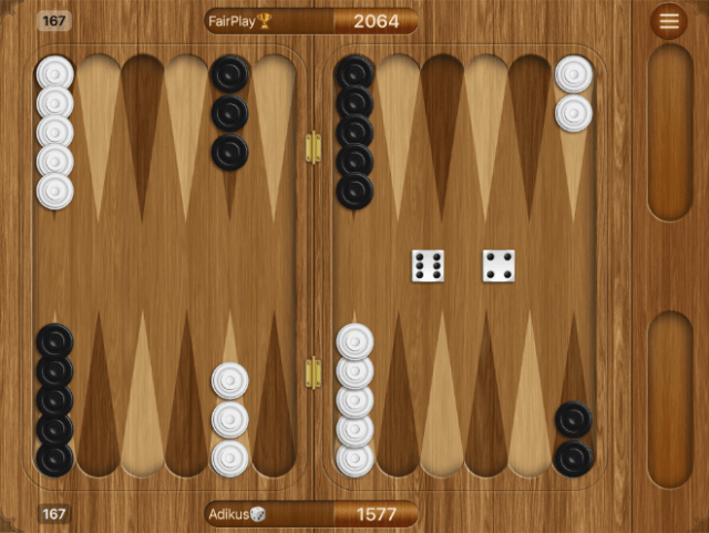 """""""Backgammon"""" from Adikus outfits one of the oldest board games with cool graphic design, soundtrack, and sound effects."""