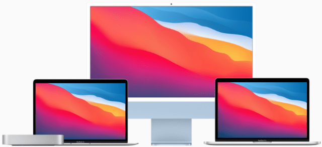 The new iMac joins the incredible family of Mac models powered by M1, including MacBook Air, 13-inch MacBook Pro, and Mac mini.